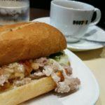 ドトールコーヒーでミラノサンド 鹿児島県産黒豚と夏野菜ソース